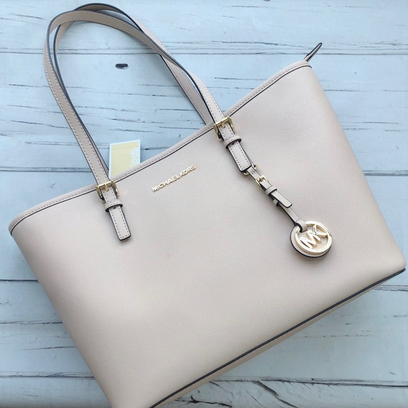 MICHAEL KORS Saffiano Leather TOTE BAG nude ballet NWT